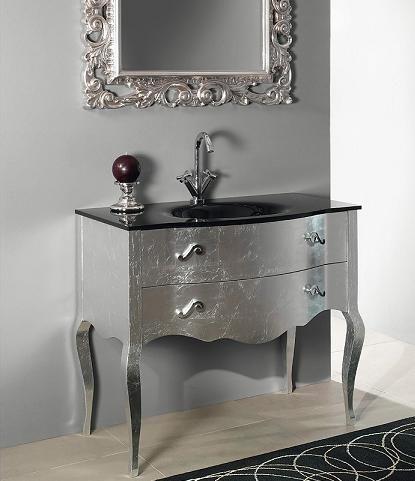 Boheme Bathroom Vanity In Silver Leaf From Iotti Wow