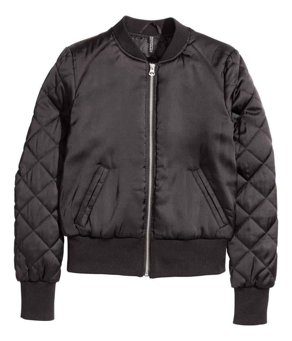 6997a66c66d5 Bomber Jacket | H&M Divided | H&M DIVIDED GIRLS | Satin bomber ...