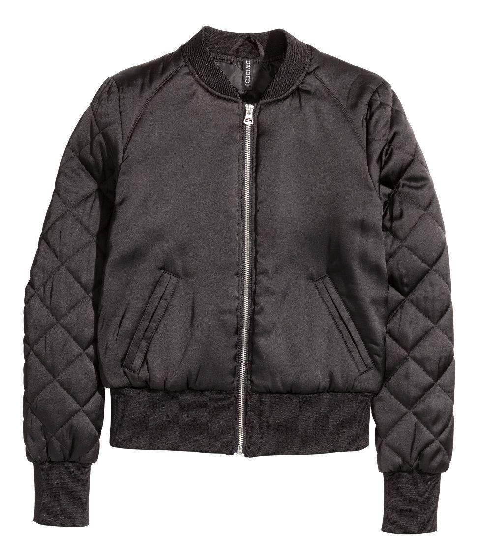 Bomber Jacket H&M Divided Bomber jacket, Black bomber