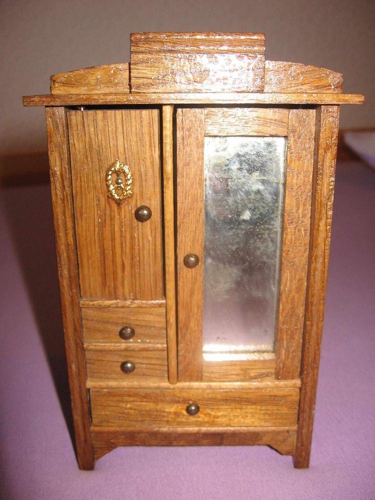 Jugendstil* - Spiegel-Schrank für Schlafzimmer - Puppenstube ...
