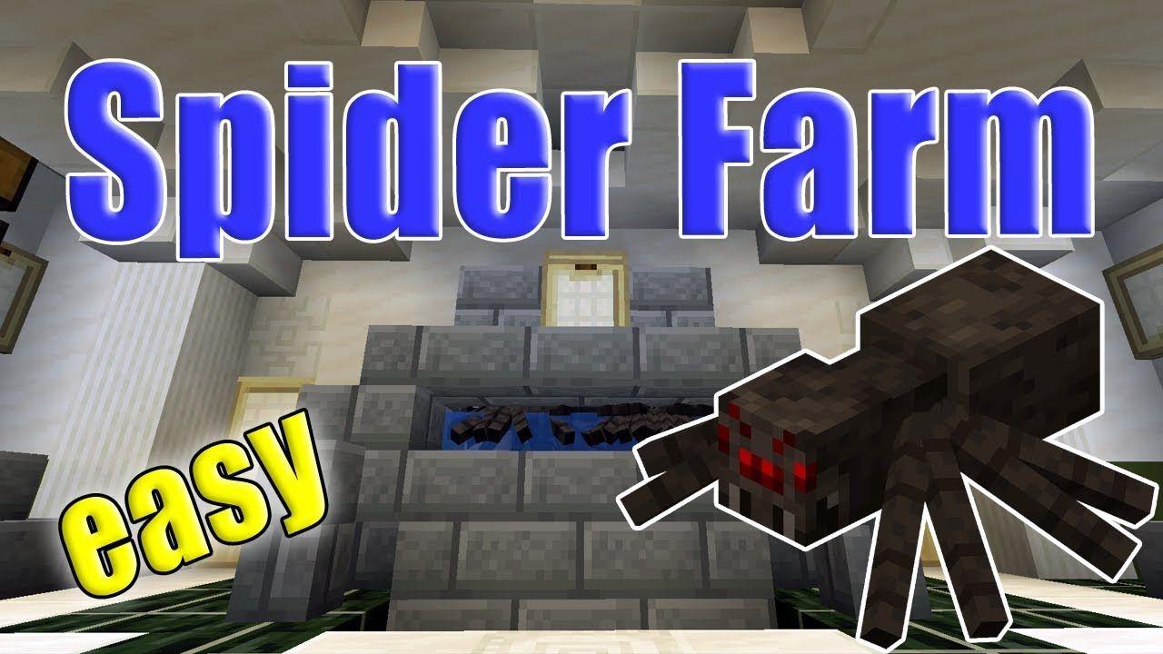 Minecraft Spider Farm Fast Easy Efficient Xp Grinder Minecraft Spider Minecraft Minecraft Survival