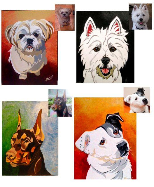 Top right looks like Sugar :)  Meredith London custom pet portraits.