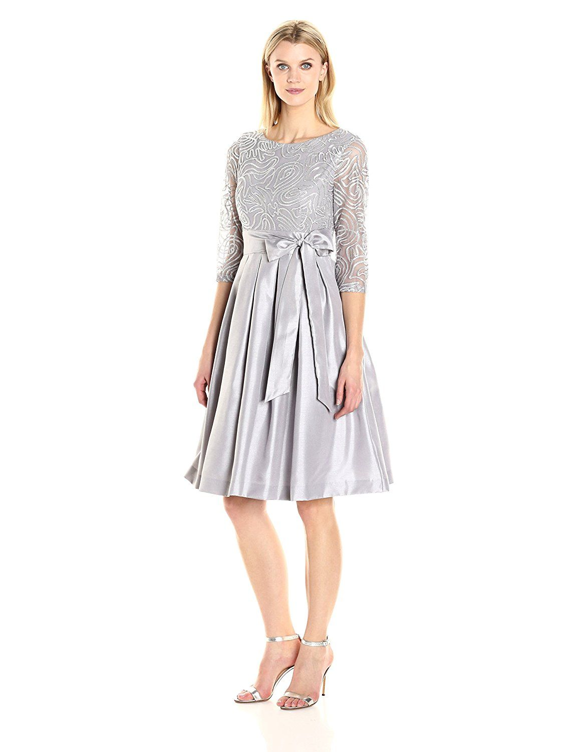ca0afc15680b Jessica Howard Women s Fit and Flare Dress With Soutache Top at Amazon Women s  Clothing store