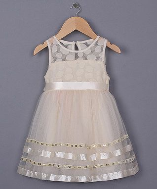 Ivory Stripe Dress - Toddler & Girls