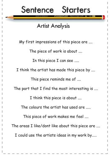 how to write an artist statement high school