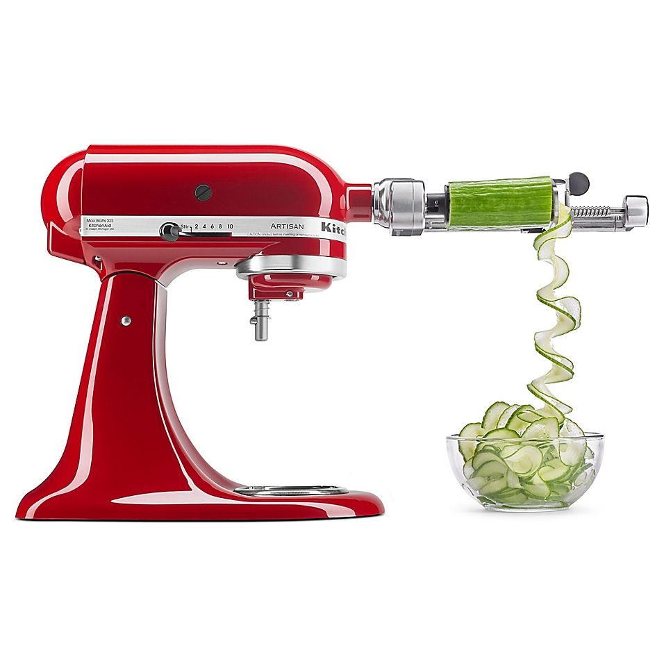 Kitchenaid 5 Blade Spiralizer With Peel Core And Slice Stand Mixer Attachment Bed Bath Beyond Kitchen Aid Kitchen Aid Mixer Kitchenaid Artisan Stand Mixer