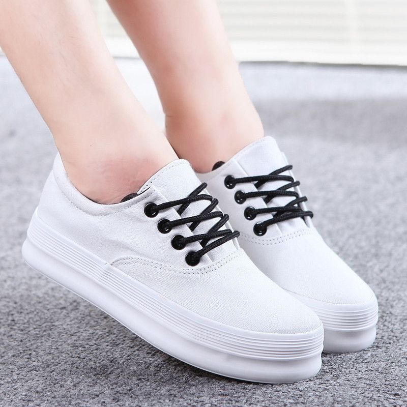 Encontrar Más Moda Mujer Sneakers Información acerca de Nuevo estilo de la  marca bajo la mujer superior zapatillas de deporte zapatos de plataforma de  ...