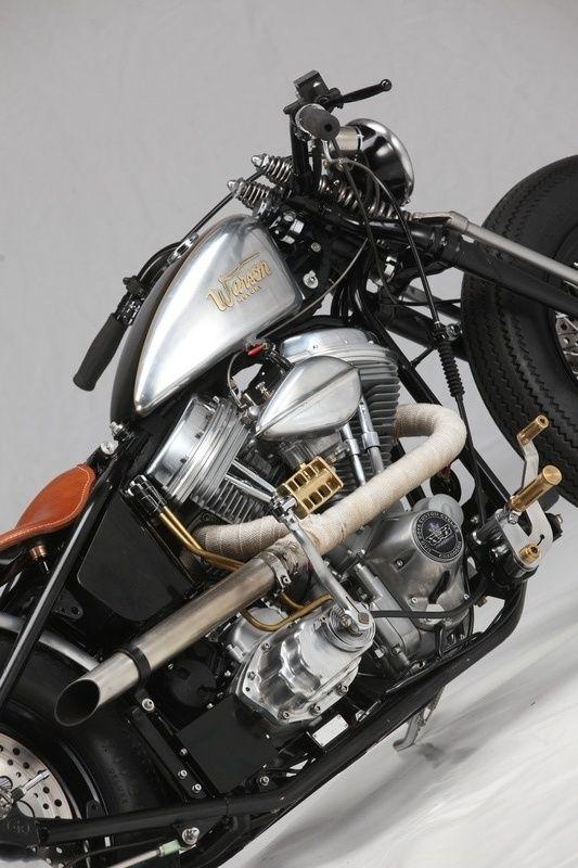 Zero engineering Warson Edition | Harley bobber, Harley ...