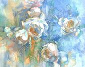 roses watercolor by Olena Kovalova