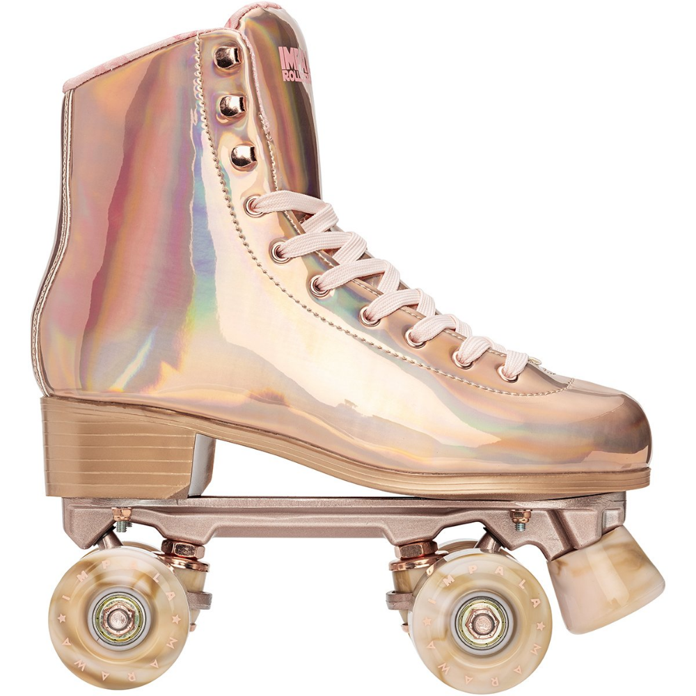 Impala Quad Skate Marawa Rose Gold Roller Skate Shoes Speed Laces Quad Roller Skates