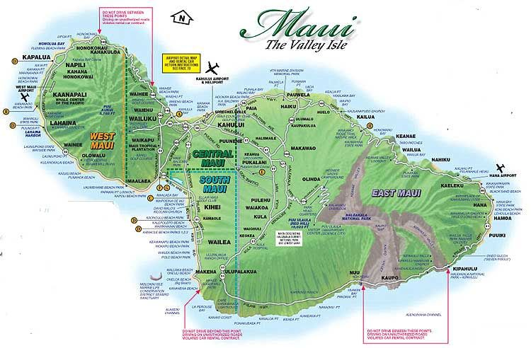 maui tourist map - Google Search | Hawaii | Maui hawaii
