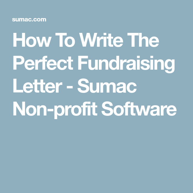 How To Write The Perfect Fundraising Letter