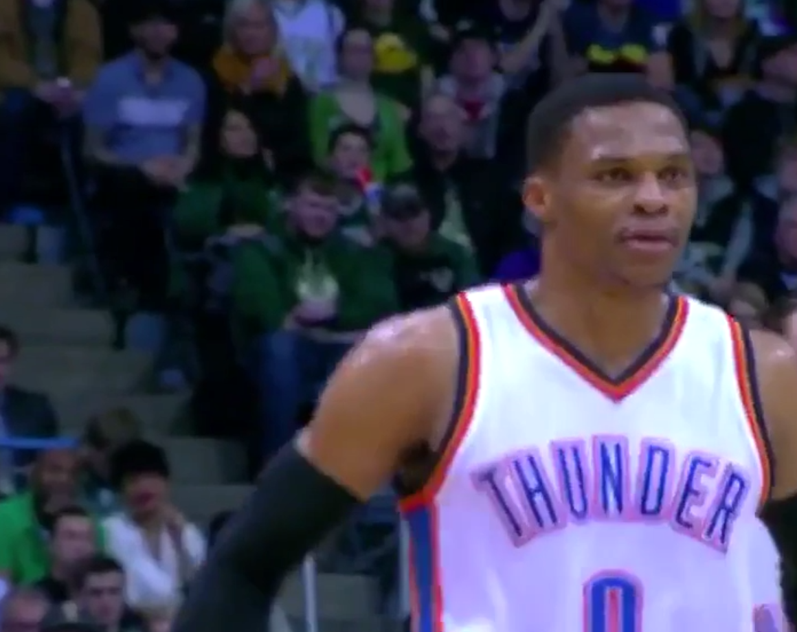 Yeah Russell Westbrook Did The Belt Russell Westbrook Oklahoma City Thunder Westbrook