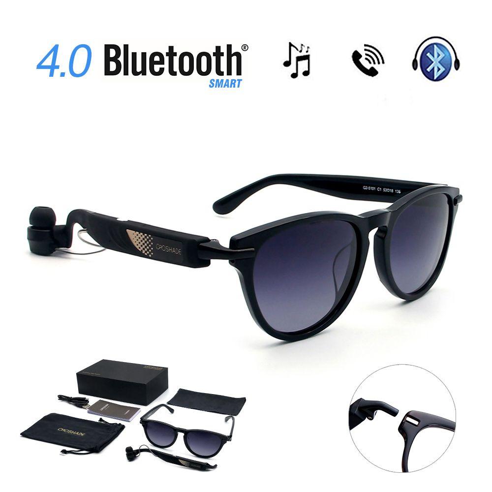 Smart Glasses Bluetooth Lunettes De Soleil Outdoor Wireless Headphones Music (Black) , Brown