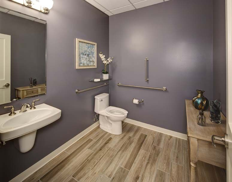 Custom Integrated Medicine Office Bathroom Design