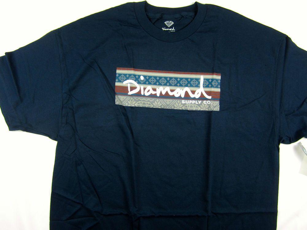 Diamond Box Xl >> New Diamond Supply Co Box Logo Navy Short Sleeve Tee Shirt