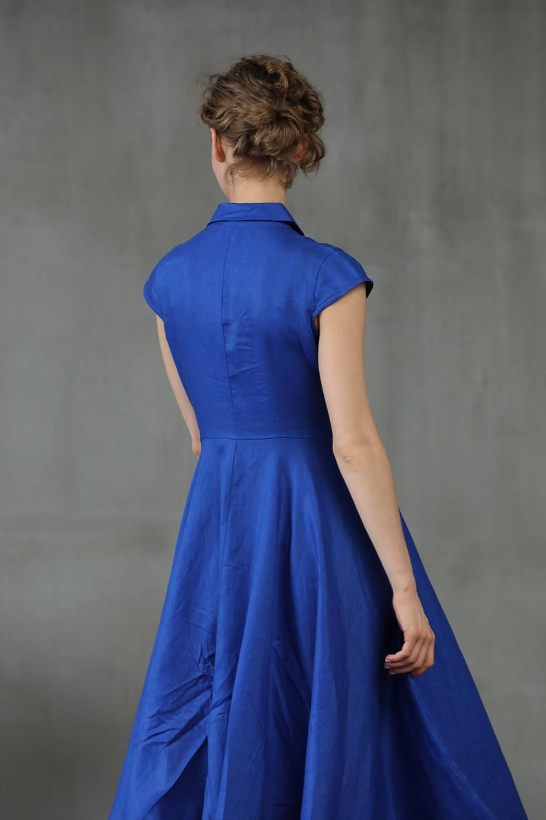roten Kleid / Leinen Abendkleid / langes Kleid - custom ...