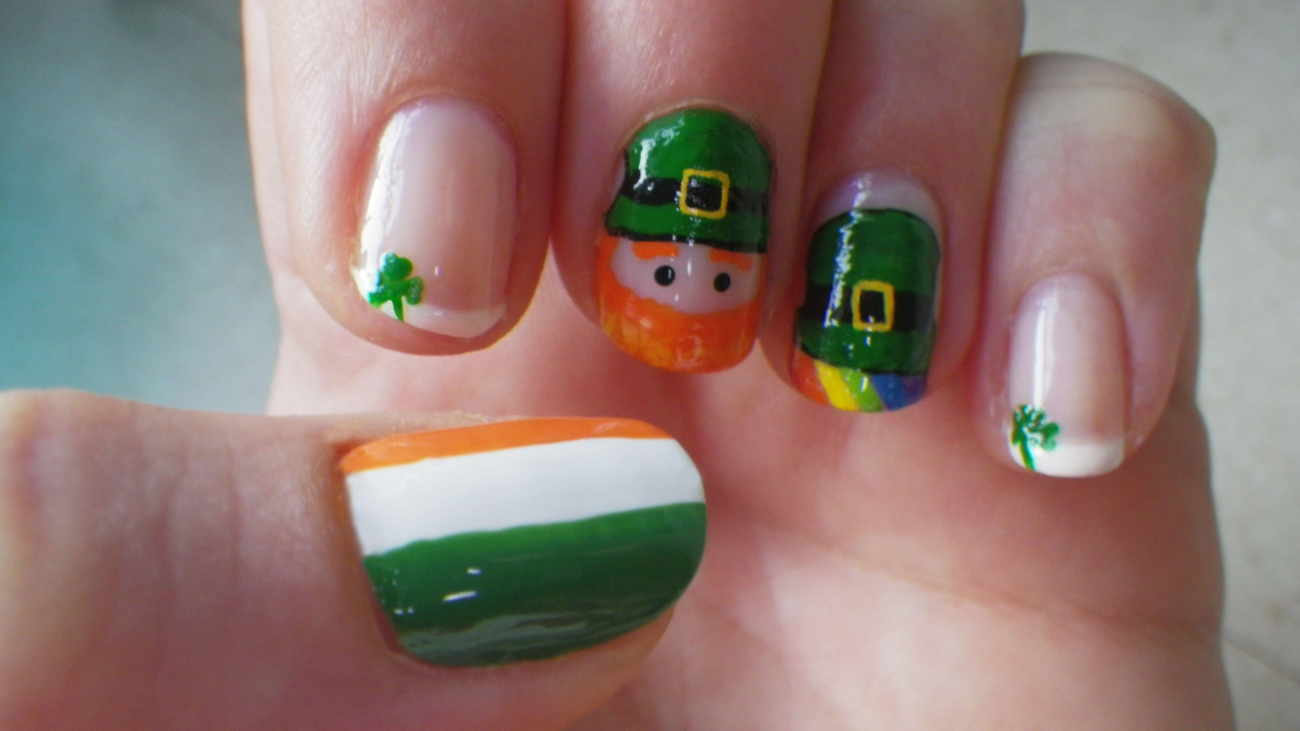 A wee bit Irish | Nails Galore!! | Pinterest | Creative nail designs ...