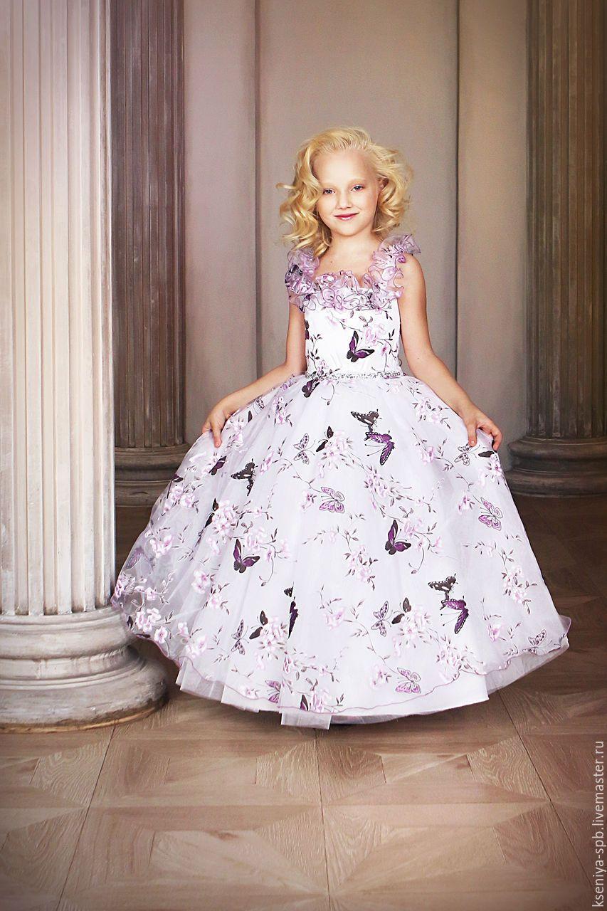 2886be93912f34f Купить Нарядное платье для девочки длинное, пышное