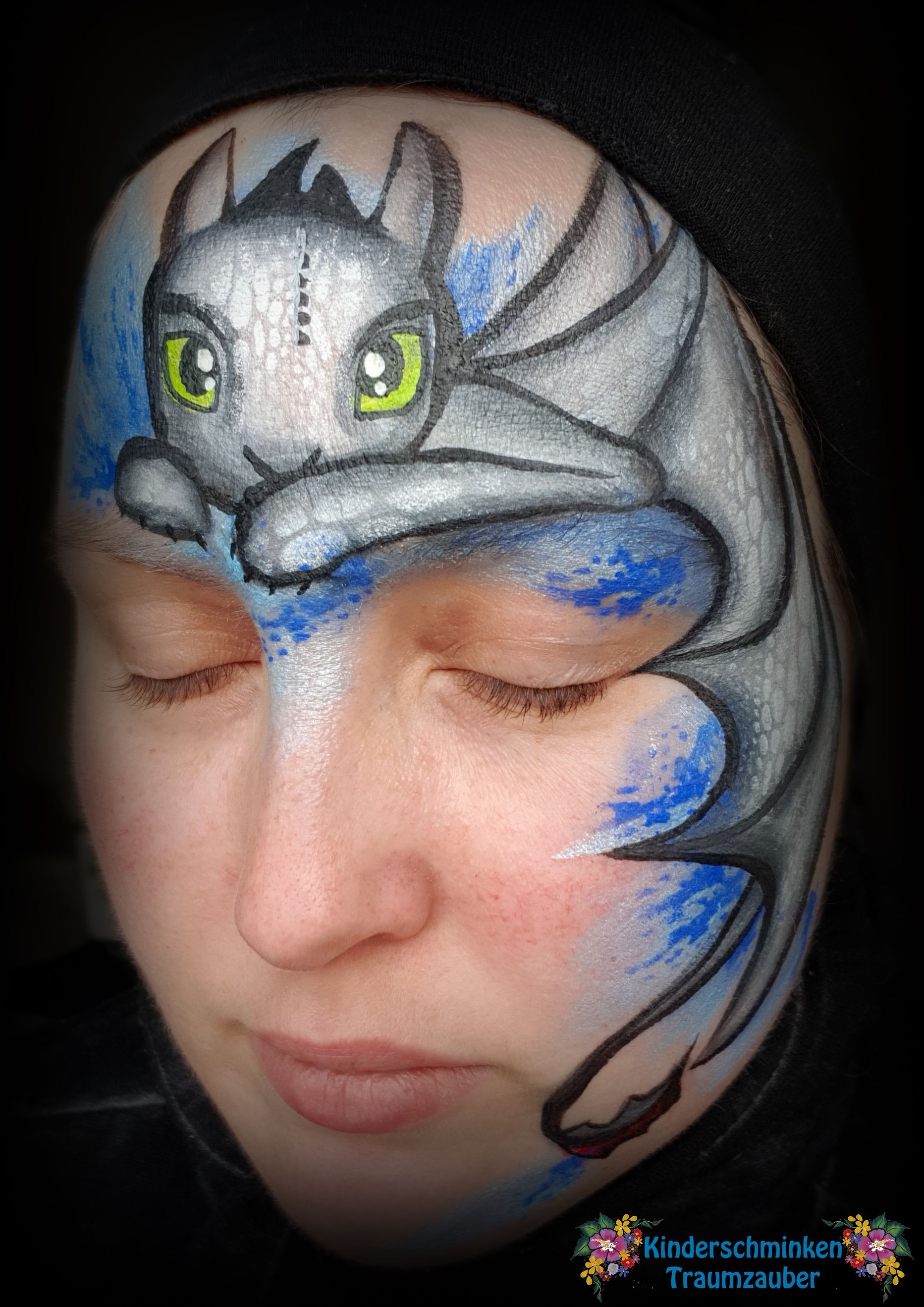 toothless Ohnezahn   Face Paintings   Pinterest   Face paintings