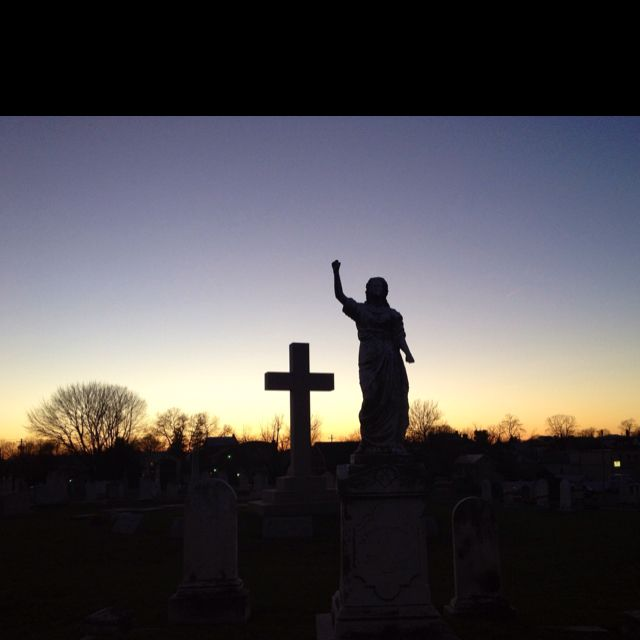 A graveyard in Westminster, MD