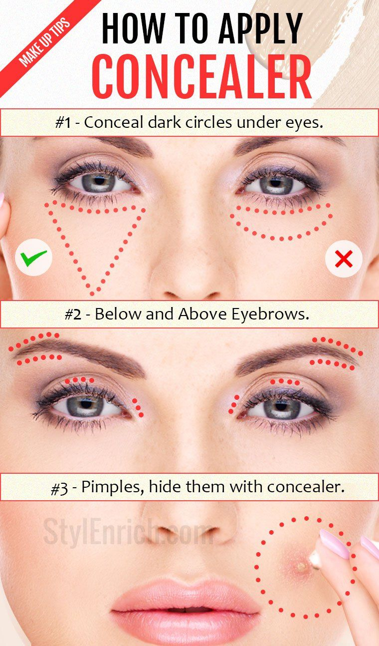 How to Apply Concealer Basic makeup, Makeup tips for