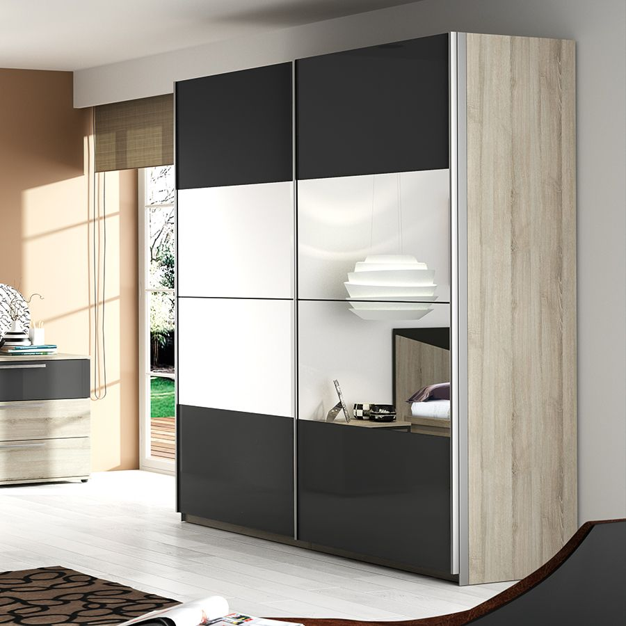 armoire moderne porte coulissante nikos meubles chambre adulte pinterest armoire bedroom. Black Bedroom Furniture Sets. Home Design Ideas