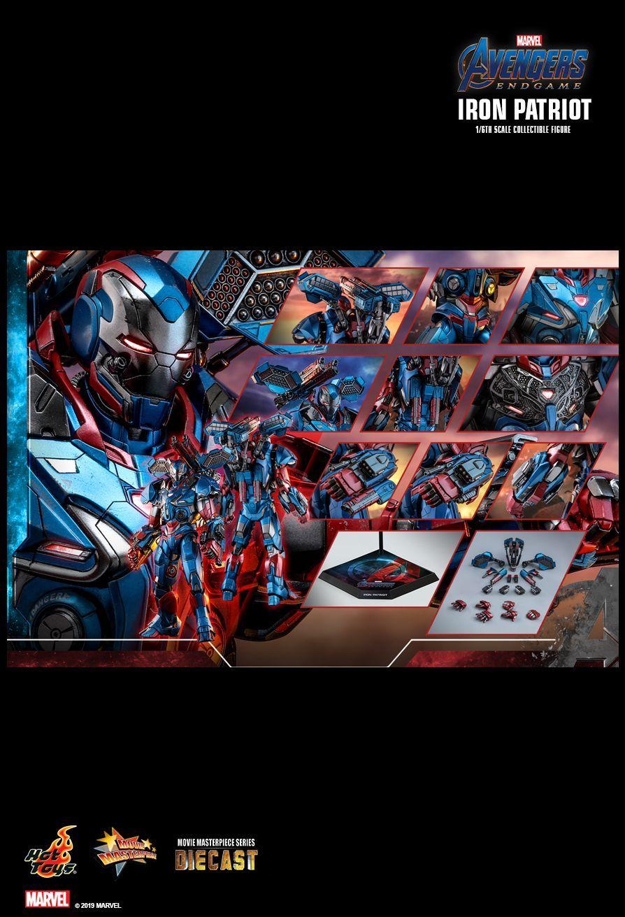 Hot Toys Avengers Endgame Iron Patriot 1/6th scale
