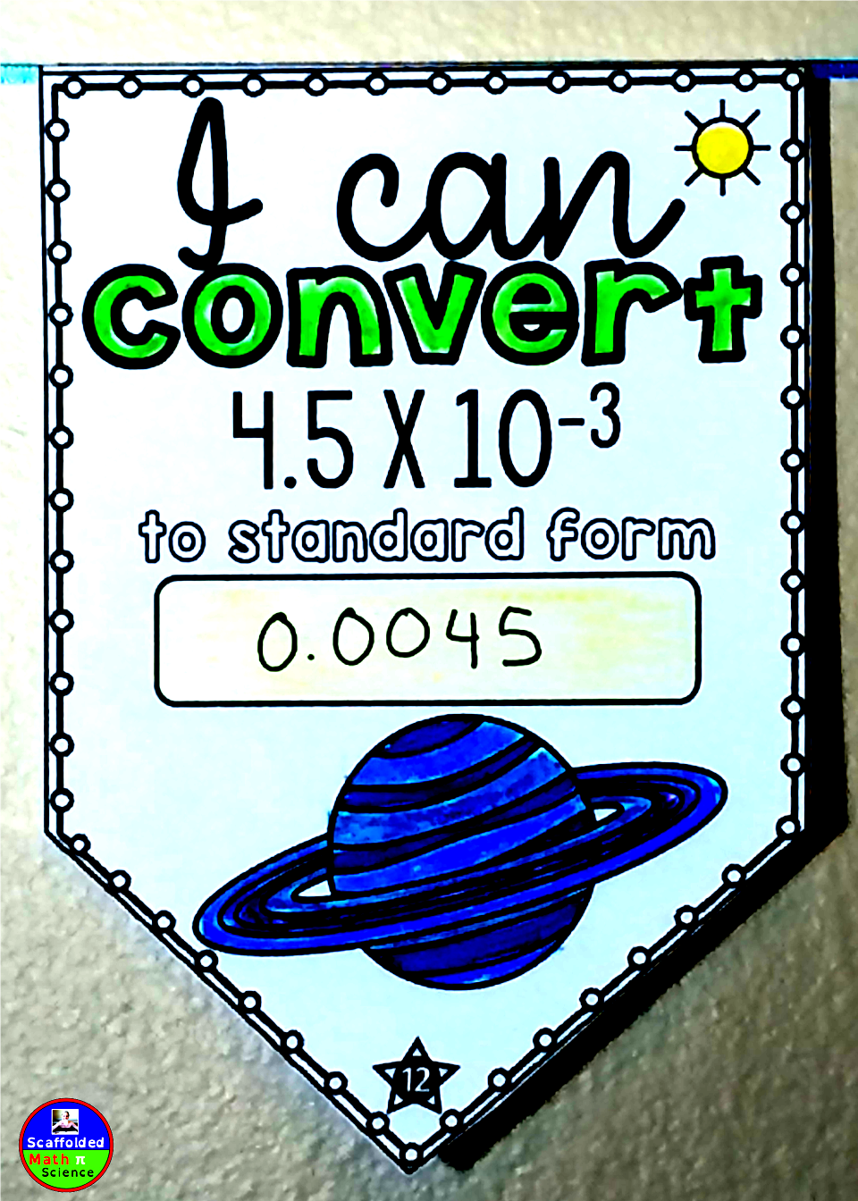 Converting Scientific Notation Pennant Middle School Math