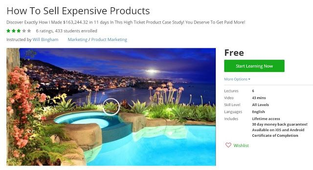 Coupon Udemy - How To Sell Expensive Products (Free) - Course Discounts & Free