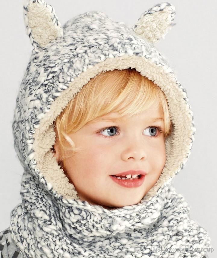 152d15efa79 E.Mirreh Baby Crochet Animal Hats Beanies Ski Cap Fleece Hat Plush Cap Warm  Hat Winter Cap With Earmuff Scarf Children Cap From Tbtgroup