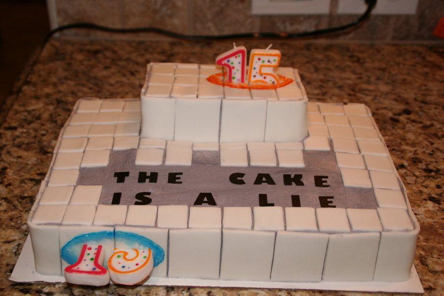 Portal 2 Birthday Cake Ideas Google Search Portal 2 Pinterest