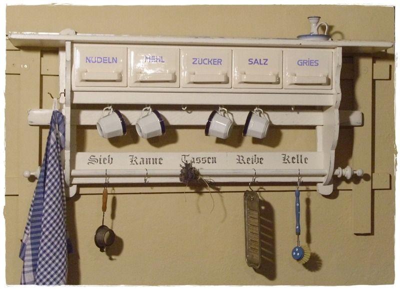 Wandregal, Küchenregal, Shabby von UrliTrend auf DaWanda.com