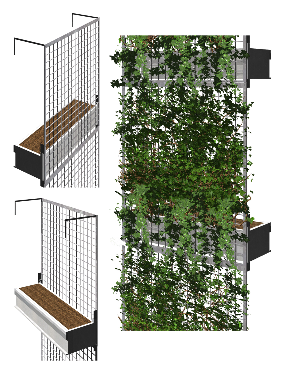 Green facade google search fachadas pinterest Green walls vertical planting systems