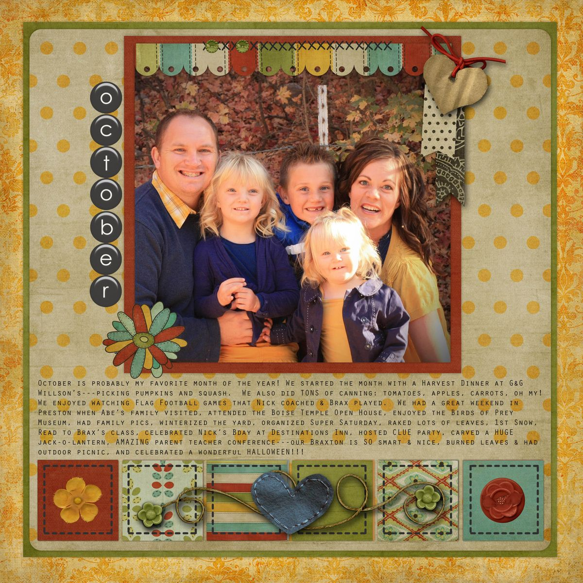 October 2012a The Shabby Shoppe Scrapbooking Gallery Scrapbook