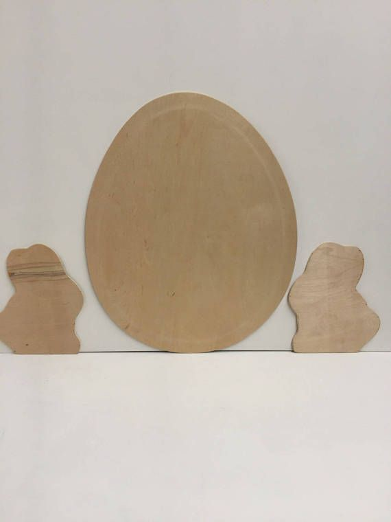 blank cutout crafts for easter, easter bunny craft project