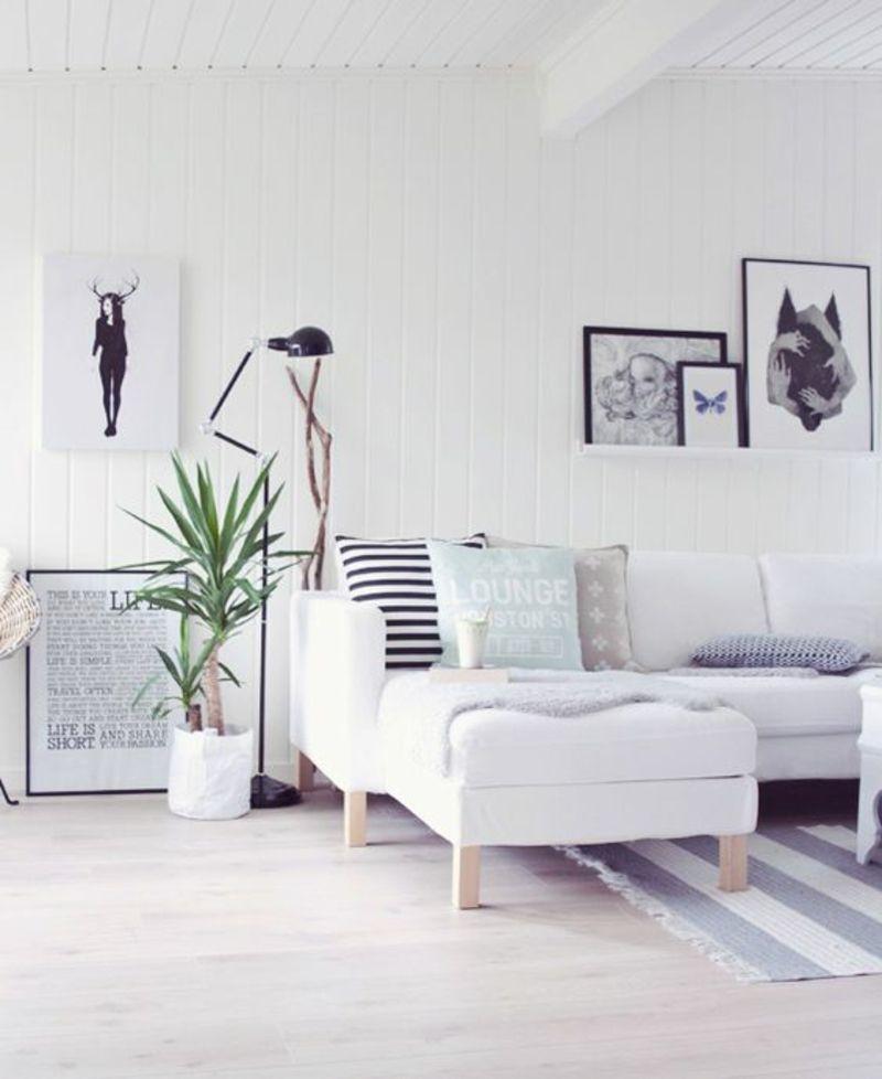 Wohnzimmer Ideen Fotowand selber machen Einrichten und Wohnen