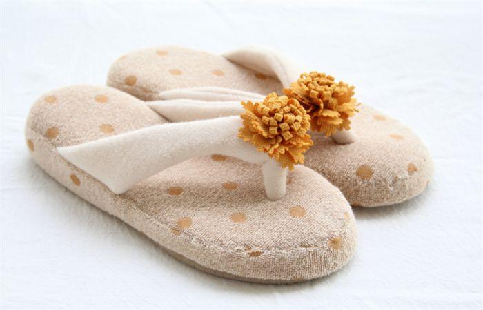 Women Indoor Slippers Girls House Shoes Terry Flip Flops ...