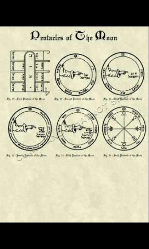 658081fb894a Pentáculos de la Luna. Rey Salomón.