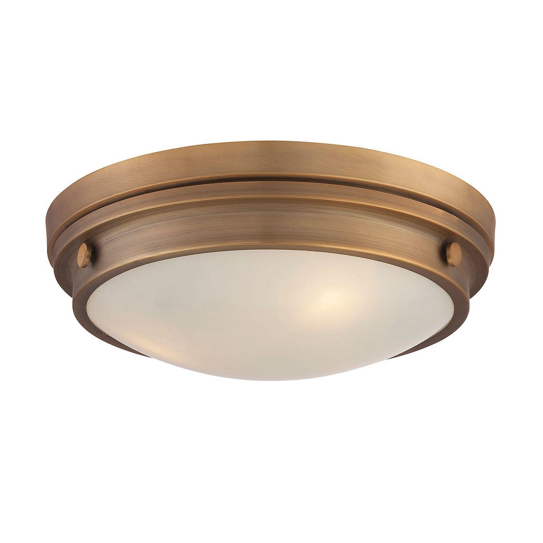 Savoy House Lucerne Warm Brass Inch ThreeLight Flush Mount -  flush kitchen lighting