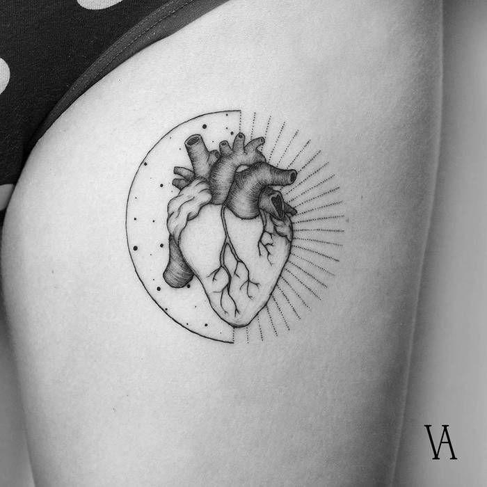 Photo of 39 Inspiring Anatomical Heart Tattoos – TattooBloq
