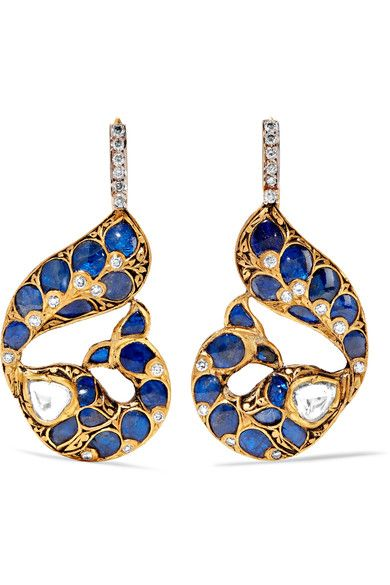 18-karat Gold, Sterling Silver And Multi-stone Earrings - one size Amrapali