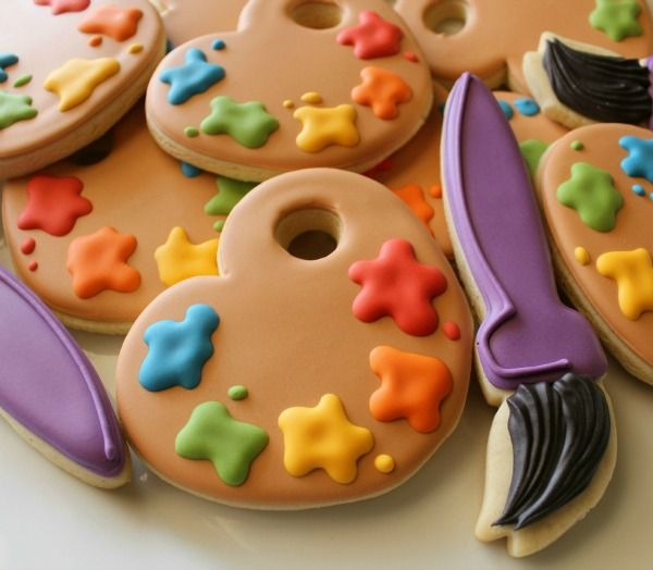 how to make paint yourself cookies