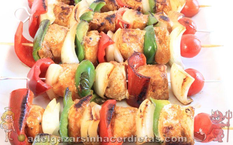 Pollo a la plancha con verduras calorias