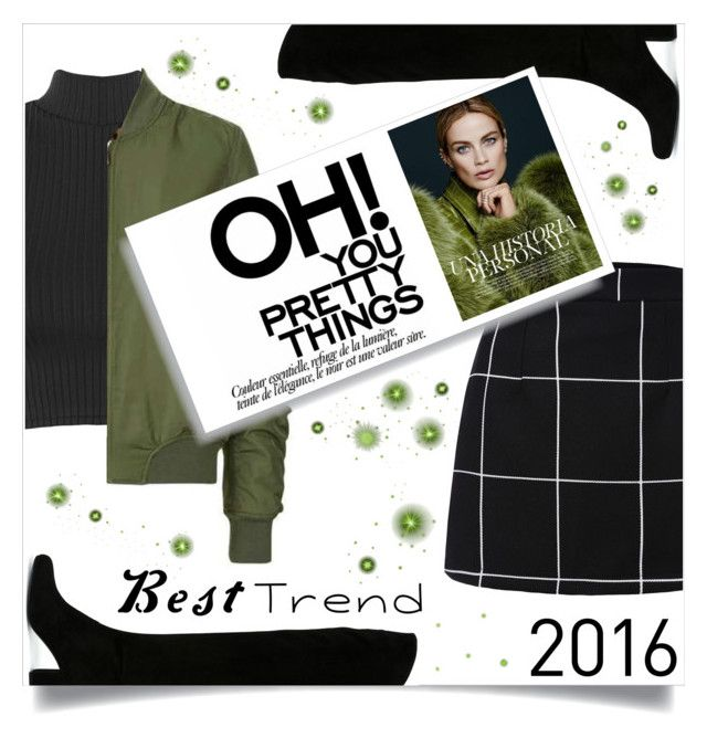 """green"" by meleuterio ❤ liked on Polyvore featuring WearAll, Yves Saint Laurent and Topshop"