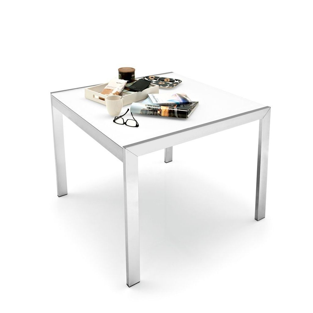 Tavolo quadrato allungabile in vetro Calligaris Key | Tavoli ...