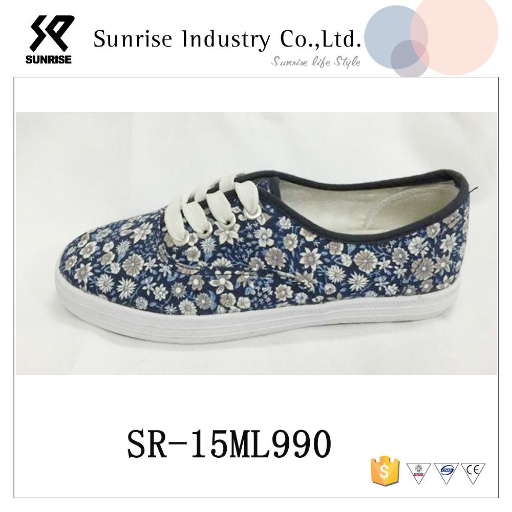 5440a2f52a5 Hot sale Breathable floral print design china cheap casual shoes ...
