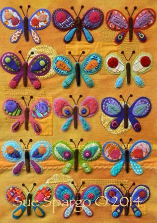 Craftsy, Butterfly Sampler Kit from Sue Spargo. Folk Art ...