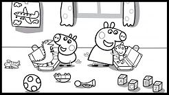 Peppa Pig And George Pig With Toys Coloring Book Pages Video For Kids Youtube Coloring Book Pages Coloring Books George Pig