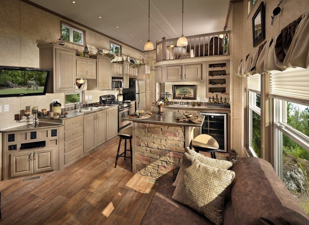 4794 island series park model by kropf industries think for Model homes images interior